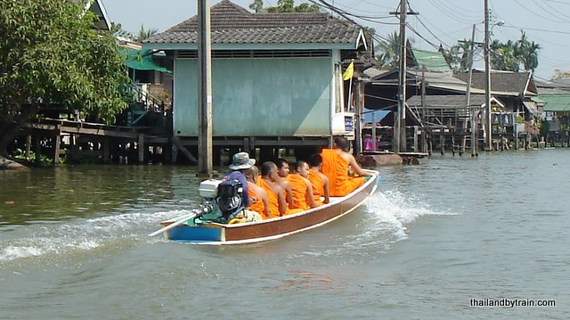 Even Monks travel by boat