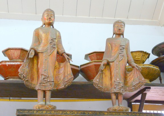 Standing Buddha Figures, possibly of Burmese origin